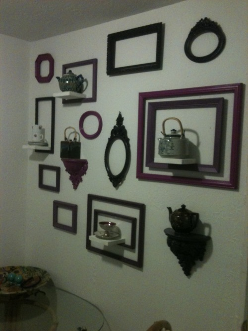 I Love a Finished Project- The Purple Frames