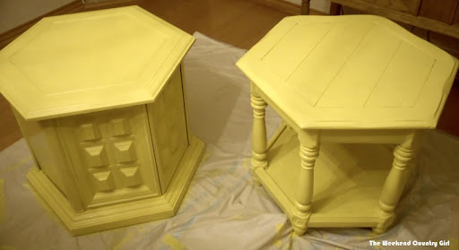Painting the Night Stands Yellow
