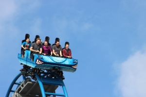 The Kids on the Pleasure Pier Roller Coaster
