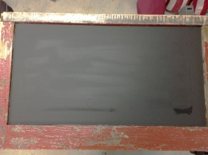 Chalkboard From Old Window Casing