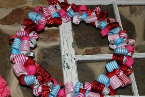 ribbon loop wreath