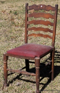 I think this old beauty would look cool with the slats painted in Ombre shades of one color.