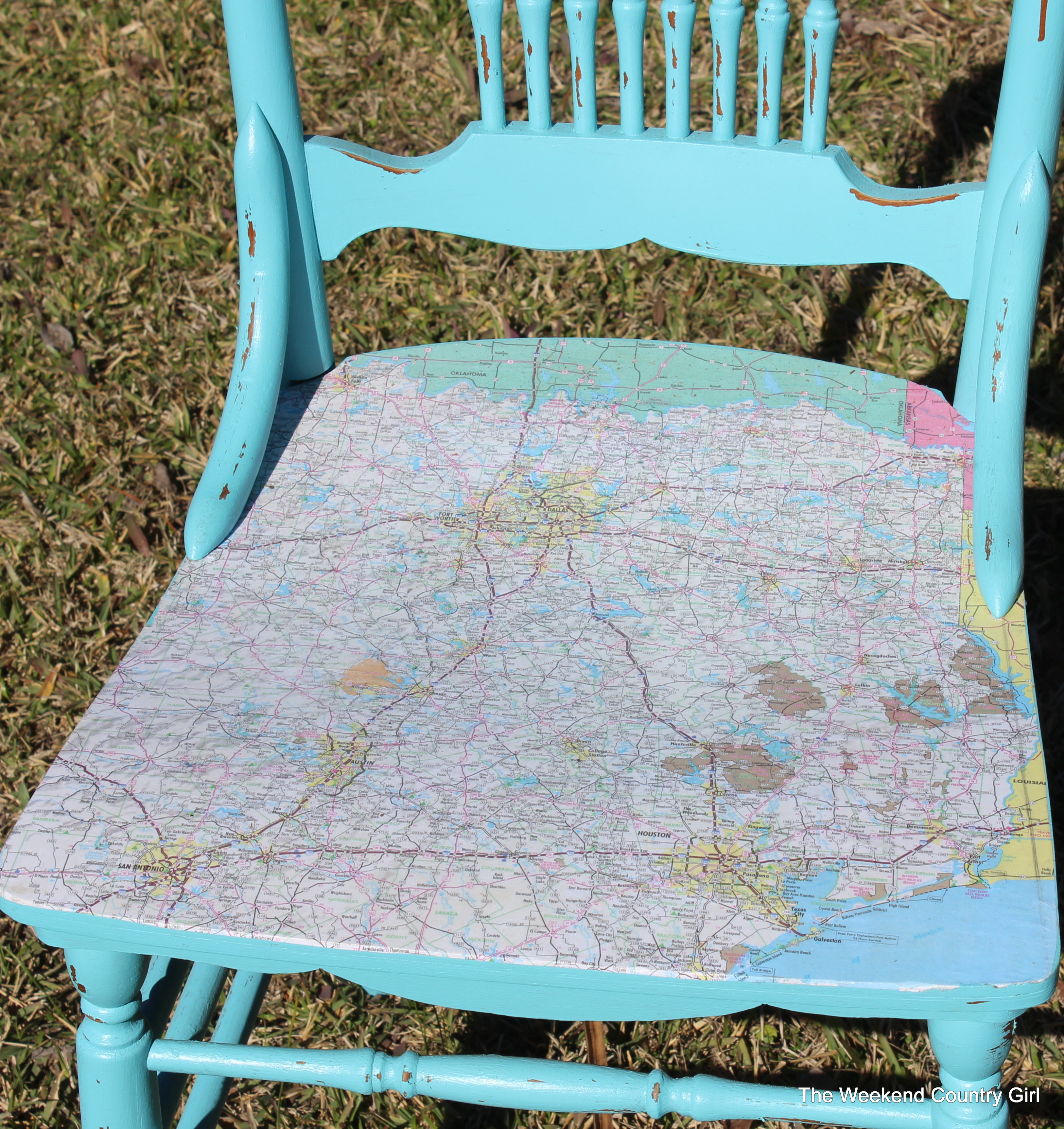 Map Chair Seat