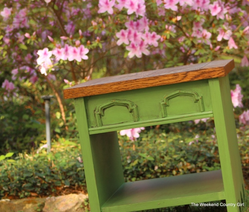 Painted Green End Table