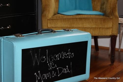Chalkboard Suitcase