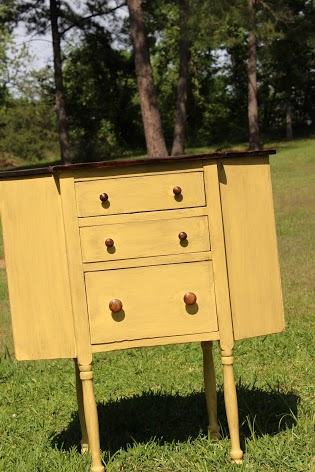 yellow sewing cabinet 2