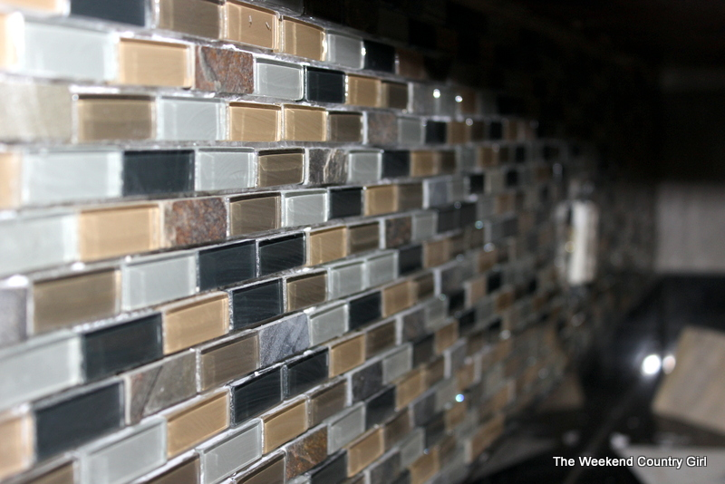 installing a glass tile backsplash the weekend country girl