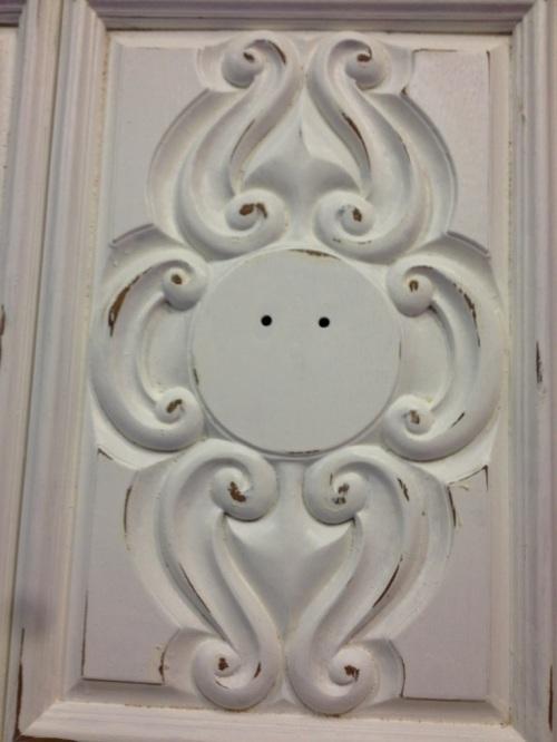 Distressed cabinet door