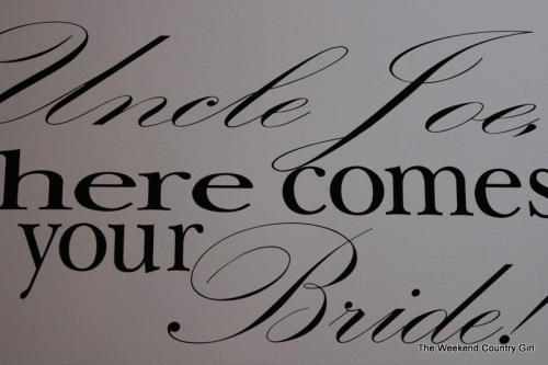 Here Comes Your Bride Sign
