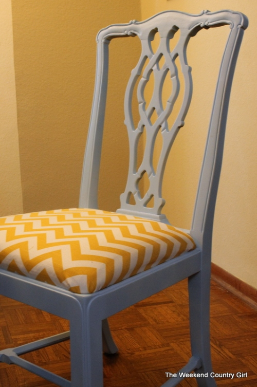 Painted formal chairs