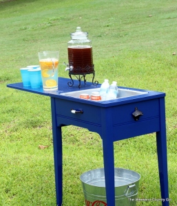 drink station sailboat blue