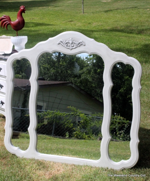 Painted French Procvincial Mirror