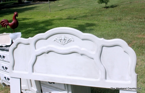Painted French Provincial Headboard