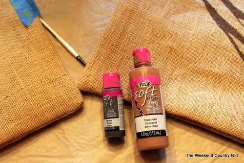 fabric paint for burlap