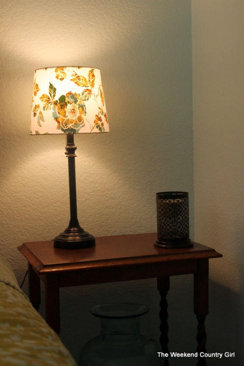 teal yellow and green lamp shade