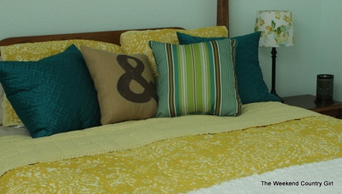 mustard yellow bedding