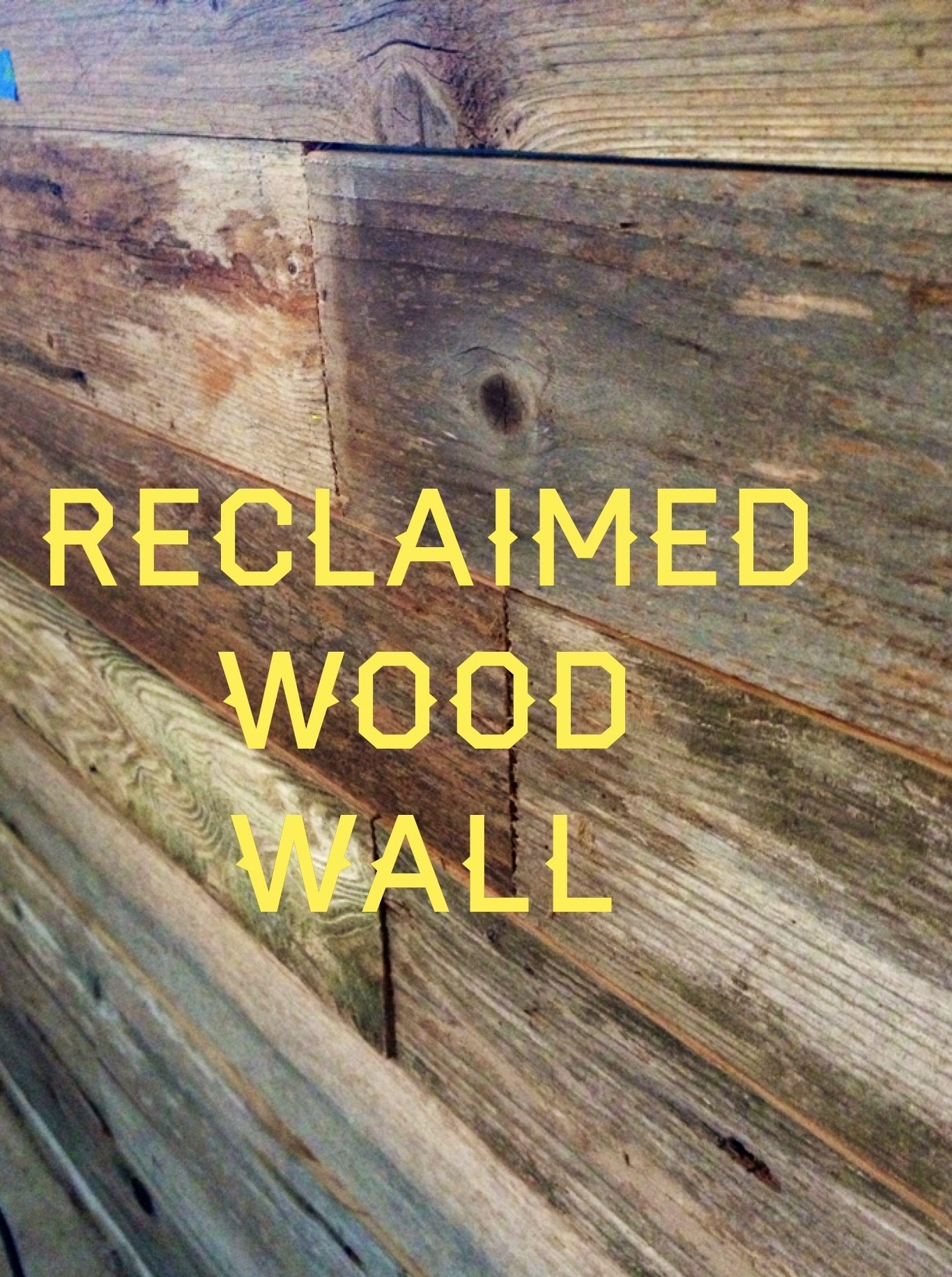 reclaimed wood wall title