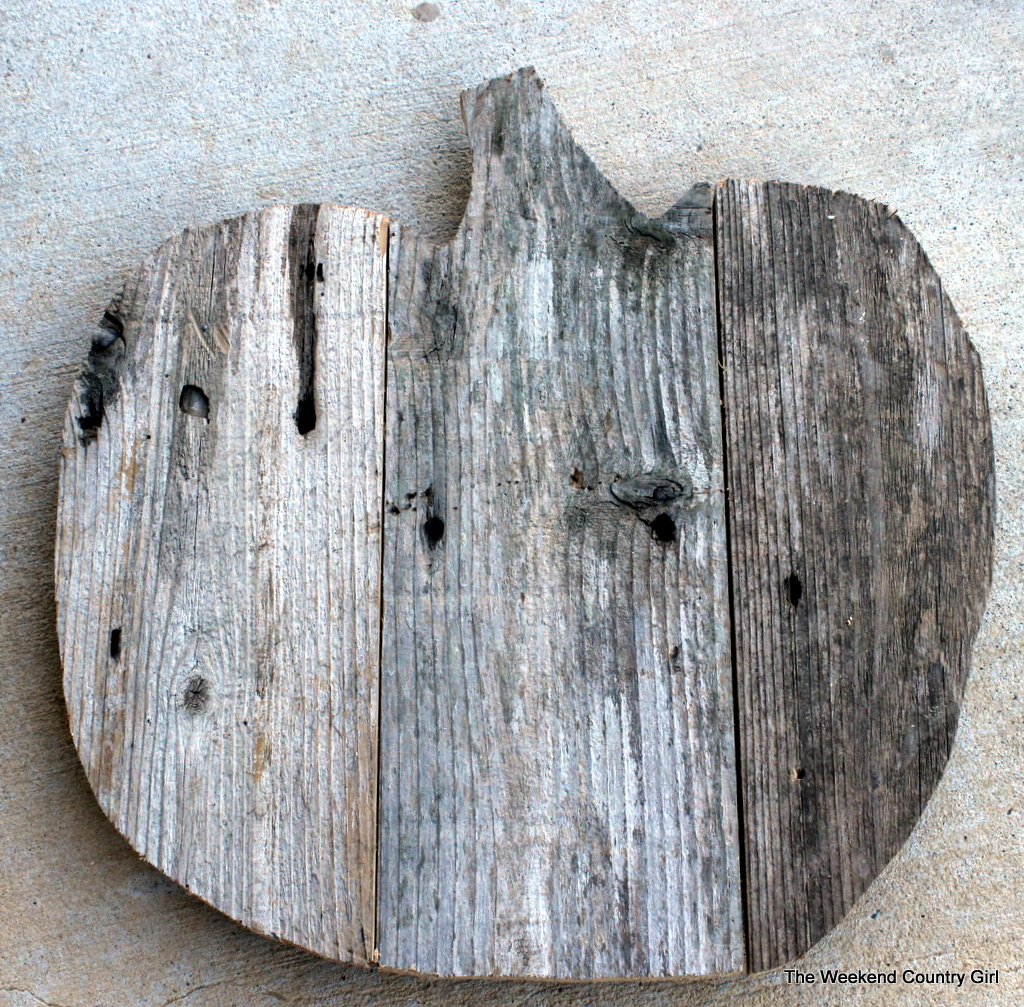 finished reclaimed wood pumpkin