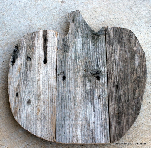 finished reclaimed wood pumpkin