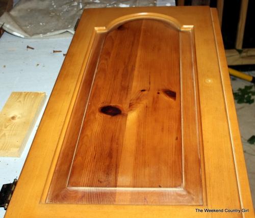 knotty pine cabinet door