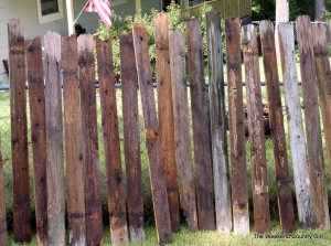 reclaimed fencing washed