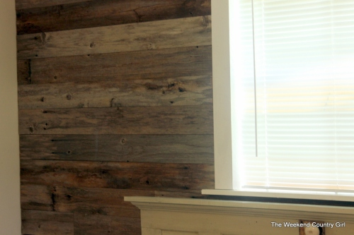 reclaimed wood on wall