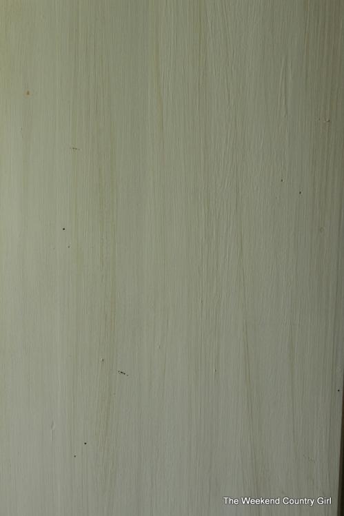 using glaze to look like wood grain