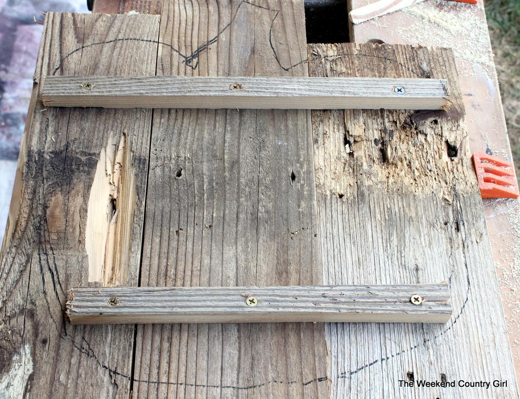reclaimed woodnpumpkin