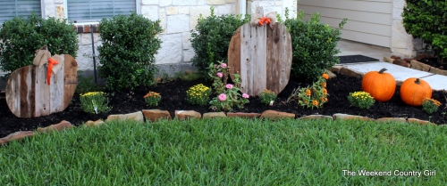 fall flower bed