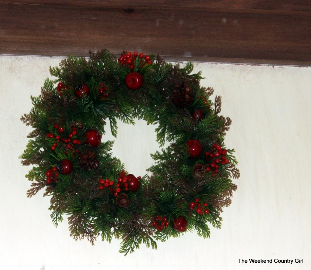 wreath in kitchen
