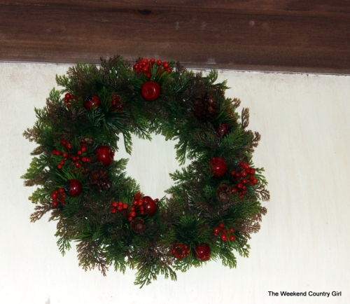 wreath in kitchen