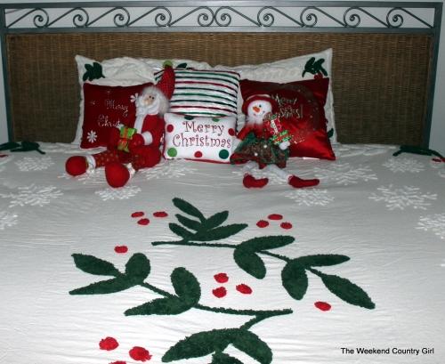 Christmas bedspread