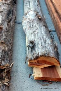 cedar log ends