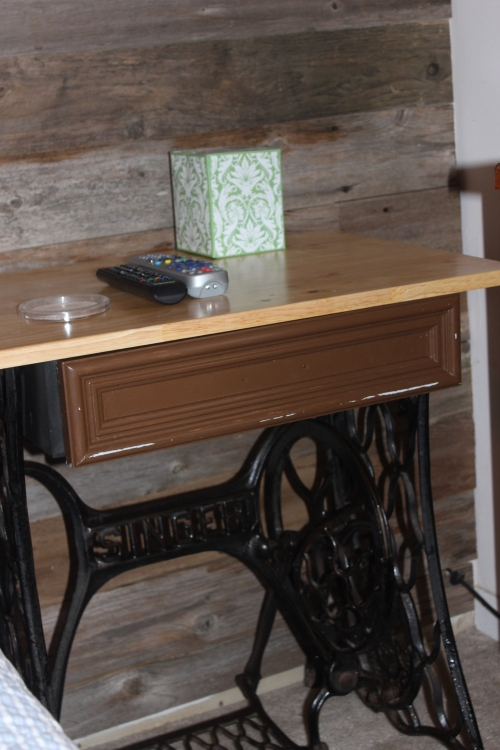 side table out of sewing treadle