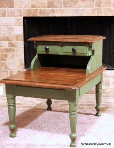 Happy Camper green end table