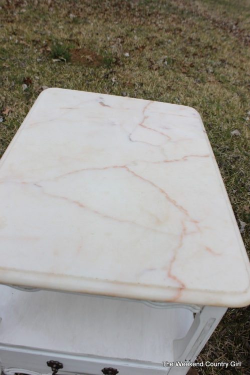 solid marble top