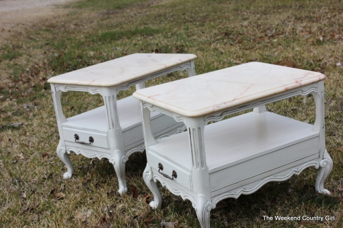 marble topped night stands