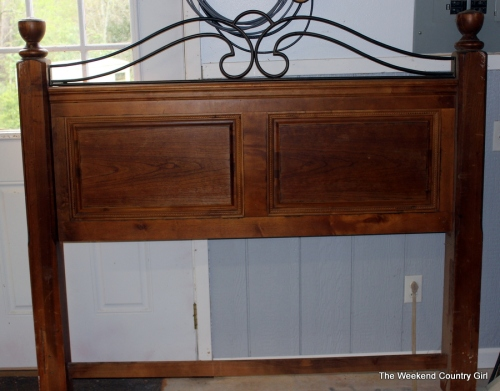 Headboard for storage bench
