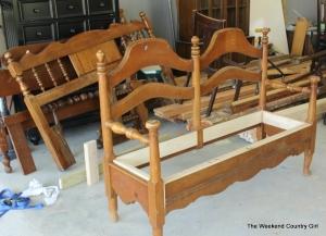 making a bench frame