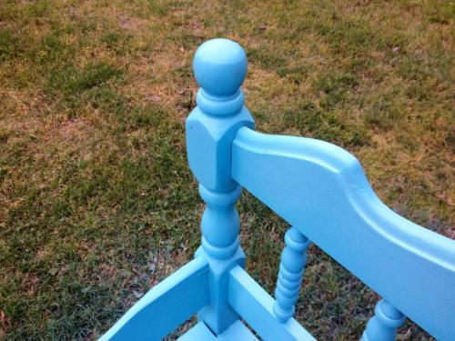 turqoise bench
