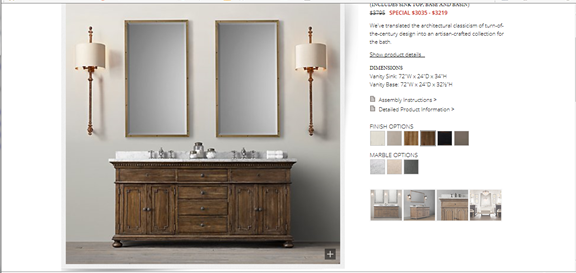 Getting the Restoration Hardware Bathroom Vanity Look with a Thrift Store Dresser (2/6)