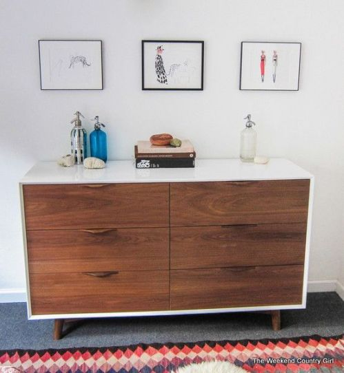 mid century modern painted dresser