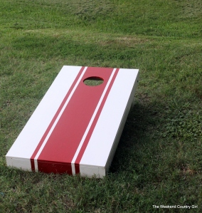corn hole set up