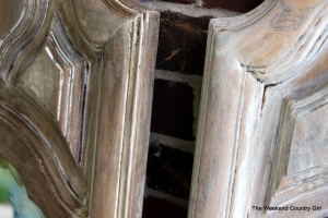 weathered wood finish mirrors