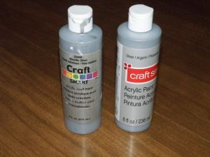 craft smart silver metallic paint