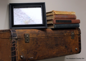 close up of suitcase wall