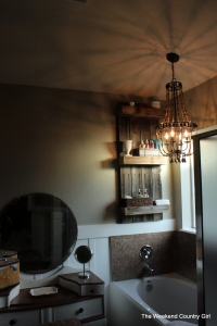 over the tub chandelier