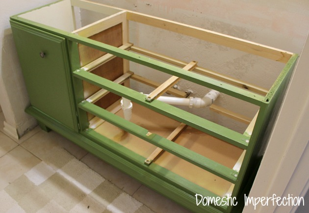 Turning a Dresser into a Bathroom Vanity (6/6)