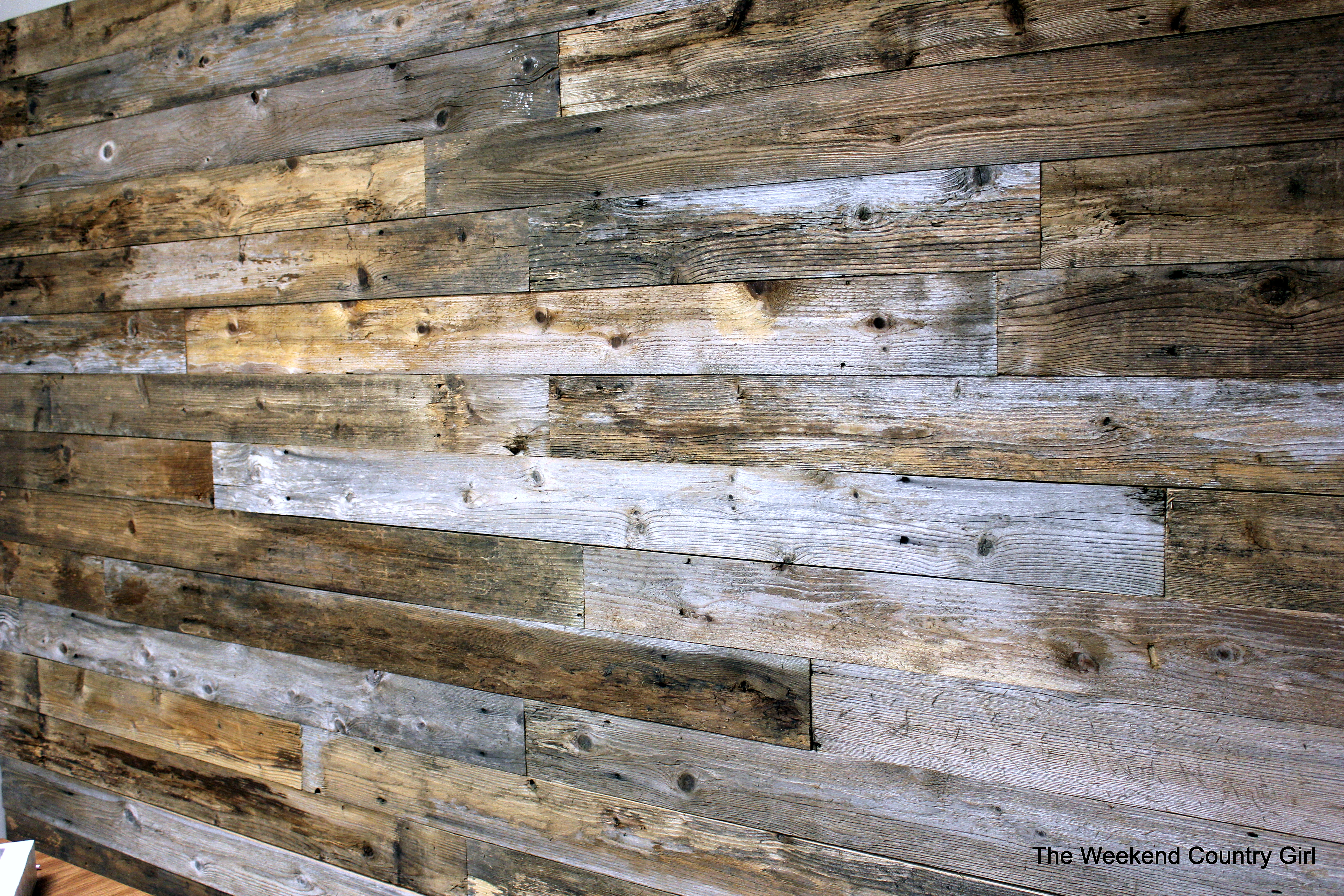 Reclaimed wood wall the weekend country girl Reclaimed woods
