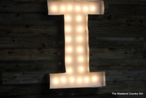 lighted marquee letter